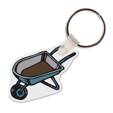 Wheel Barrel Key Tag W/ Key Ring