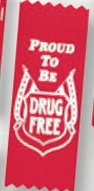 Stock Drug Free Ribbon Award (Proud To Be Drug Free)