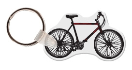 Custom Printed Bicycle Shaped Keytags