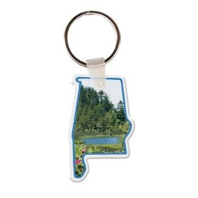 Alabama Shaped Key Tag W/ Key Ring