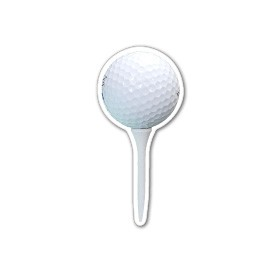 Golf Ball On Tee - Magnet 3.0 Sq. In. & 15 MM Thick