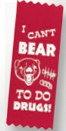 Stock Drug Free Ribbon Award (I Can't Bear To Do Drugs)
