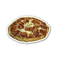 "Pizza Shaped Magnet - 2""x1.28"" (4.6 Sq. In.)"