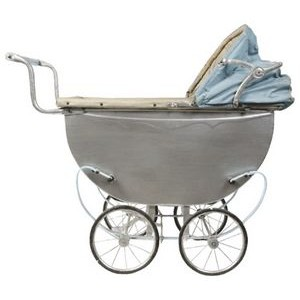 Full Color Plain Baby Buggy Magnet (1-3 Sq. In.)