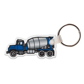 Cement Truck Key Tag W/ Key Ring
