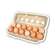 Egg Carton Magnet 2.96 Sq. In. & 15 MM Thick