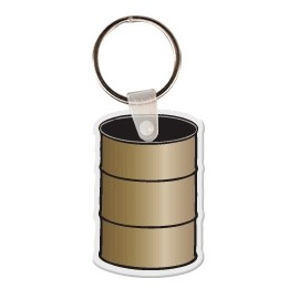 Barrel Key Tag W/ Key Ring