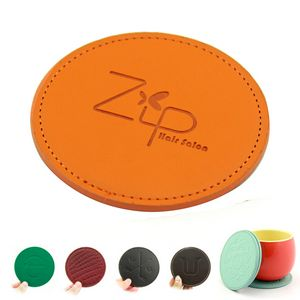 Round Leather Coaster