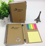 Custom Notepad with Pen in Holder and Sticky Notes Flags