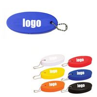 Oval Soft Floater Key chain