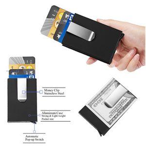 Custom Aluminum Card Holder with Money Clip