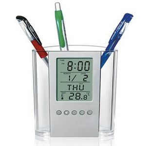 Multi-functional Alarm Clock Pen Holder