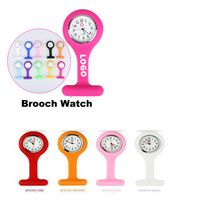 Unisex Nurses Lapel Watch Silicone