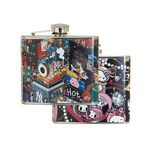 Custom 5 Oz. Stainless Steel Hip Flask w/Full Wrap 4 Color Process Printing (CMYK)