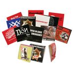 Custom Condom Matchbook w/4 Color Process Printing (CMYK)