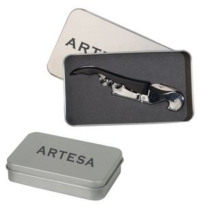 Metal Tin Corkscrew Bottle Opener Gift Box - BX-OP13 - IdeaStage Promotional Products