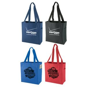 600d Polyester Tote Bag W Side Pocket Totebag27 Ideastage Promotional Products