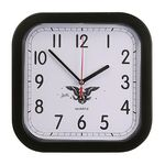 Custom Rounded Square Wall Clock w/4 Color Process Printing (CMYK)