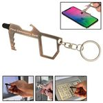 Custom Sanitary Door Opener Key w/Stylus Tip & Bottle Opener
