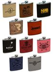 Custom 6 Oz. Single Leatherette Flasks