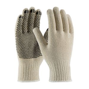 Seamless Knit Cotton/Polyester PVC Dot Grip Gloves