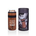 12 Oz. Recess Slim Can Cooler - Insulated Stainless Steel Beverage Insulator