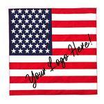 100% Micro Polyester USA Flag Bandanna 22X22