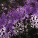 Purple/ Black Tie Dye Bandanna 22x22