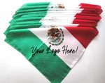 100% Micro Polyester Mexican Flag 22X22