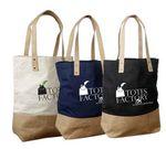 Custom Jute - Cotton Tote Bag - Natural
