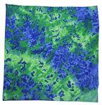 Blue/ Green Tie Dye Bandanna 22x22
