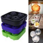 Custom Silicone 4 Ice Ball Mold Tray