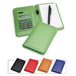 Deluxe Leather Pocket Notebook Cover Jotter Organizer Memo Pad Holder with Calculator