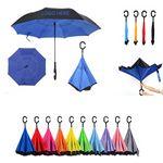 Custom Promotional C Handle Reverse Inverted Upside Down Umbrella
