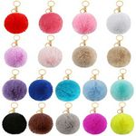 Pom Pom Keychain Fur Ball Keychain Fluffy Accessories