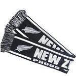 Customized Jacquard Knitted Scarf with Logos on Both Sides