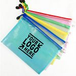 PVC Mesh Zipper Pouch Document Bag