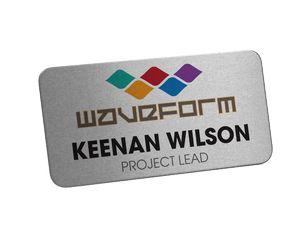 Digitally Printed Metal Name Badge