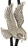 Custom Large Silver Eagle Bolo Tie