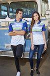 Custom Short Sleeve Solid Polo Shirt W/Knitted Collar