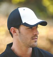 Contrast Double Layer Mesh Back and Visor Trim