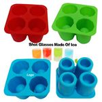 Custom Silicone 4 Ice Shot Glass Maker