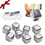 Custom Custom Logo Engraved Reusable Stainless Steel Ice cube