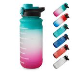64 OZ/Half Gallon Motivational Water Bottle