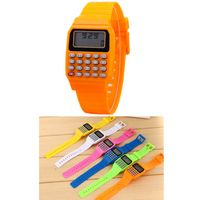 Electronic Wrist Calculator Watch W/Rubber Buttons