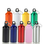 Custom 20 oz Aluminum Sport Water Bottle w/ Carabiners Clip