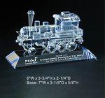 Custom Engine on base Award Trophy, Train Shape
