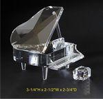 Custom Piano set optical crystal award Trophy