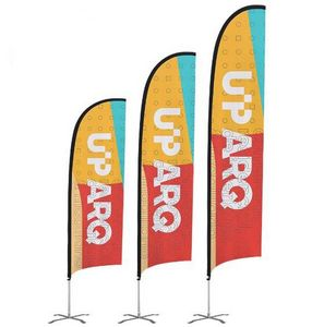 Premium 12 Feather Flag Kit (Single-Sided with Ground Spike)