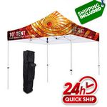 Custom Premium Aluminum 10' Tent Kit Silver (Full-Bleed Dye Sublimation)